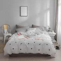 40s北欧极简主义系列13372纯棉四件套 1.5m/1.8m 床(床单款四件套) 墨菲
