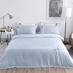 2018新款60天丝四件套 1.8m(6英尺)床 爱丽斯蓝