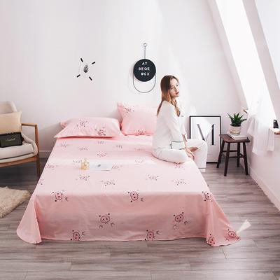 2019新款全棉13070小清新系列-单床单 160cmx230cm 猪猪女孩