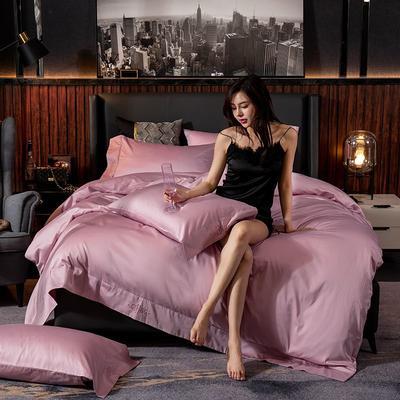 2019新款长绒棉酒店款吉系列四件套 1.2m床单款三件套 豆沙