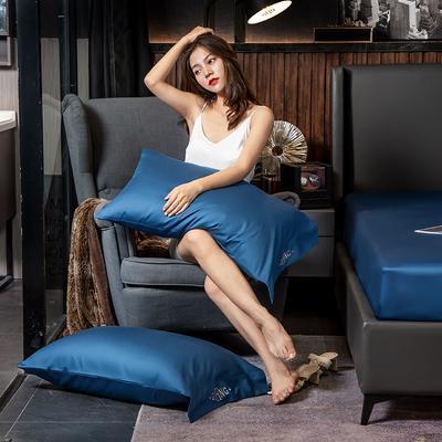 2019新款长绒棉酒店款吉系列单品枕套(48*74cm/对) 48cmX74cm/对 吉-巴黎蓝