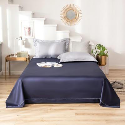 2020新款60S长绒棉四件套-KL系列极有家风格—单品床单 160*245cm KL-藏蓝