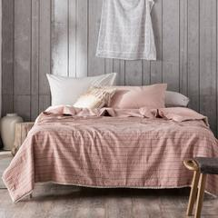 2019新款-全棉水洗色纺提花蚕丝被 200X230cm 红格