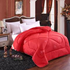 2018新款超柔保暖羊毛被 1.8米   8斤 红色