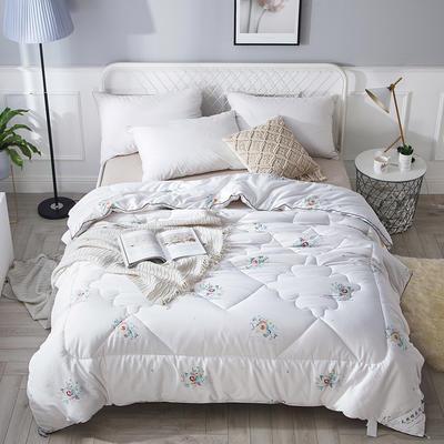 2018新款13372全棉棉花保暖被 150x200cm6斤 欢乐颂