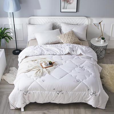 2018新款13372全棉棉花保暖被 150x200cm4斤 棉趣