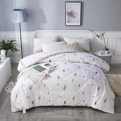 2018新款13372全棉棉花保暖被 150x200cm6斤 沐浴森林