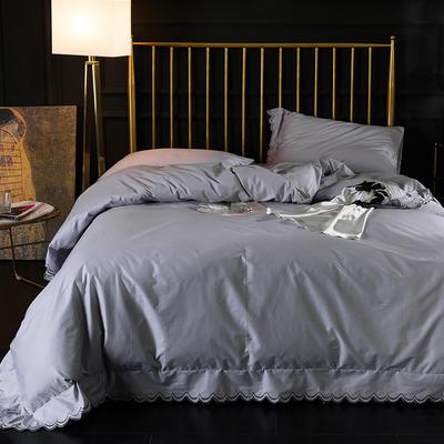 2019新款-全棉绣花款四件套 1.8m(6英尺)床 贵族白