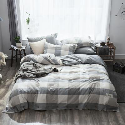 2019新款-自由棉麻风系列四件套 床笠款1.5m(5英尺)床 时尚咖