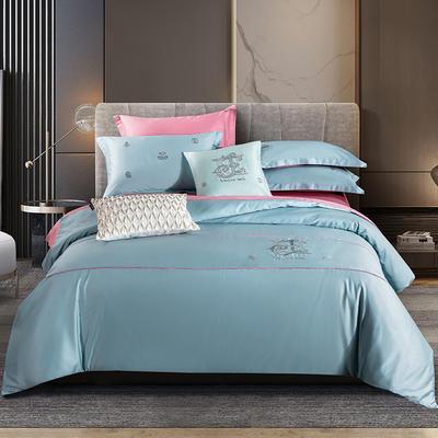 2020新款-长绒棉酒店风四件套 床单款1.8m(6英尺)床 凯罗琳—巴黎兰