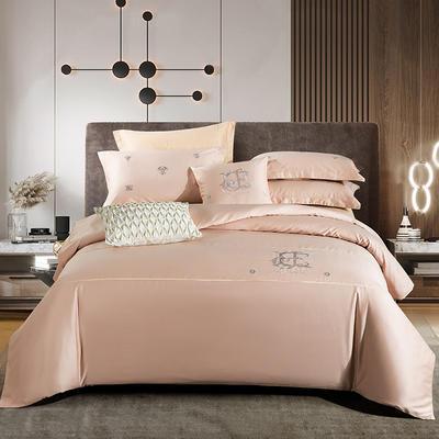 2020新款-长绒棉酒店风四件套 床单款1.8m(6英尺)床 凯罗琳—香槟玉