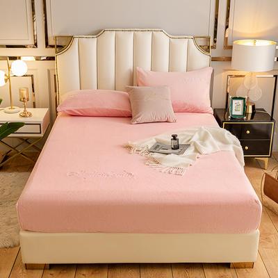 2020新款-水晶绒牛奶绒单床笠 单床笠90*200 粉色