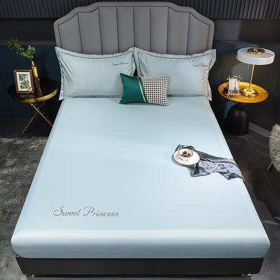 2021新款水洗真丝单床笠 120cmx200cm 安其拉-梵星蓝