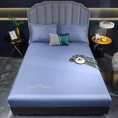 2021新款水洗真丝单床笠 150cmx200cm 安其拉-紫灰