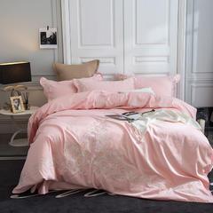 2018新60长绒棉绣花四件套 1.5m(5英尺)床 玫瑰序曲