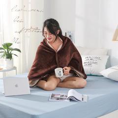 单层双面加厚多功能披肩毯童毯 70*100 咖色