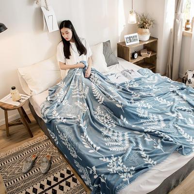 2018新款法莱绒毯 120*200cm 花语