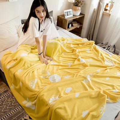 2018新款法莱绒毯 120*200cm 盛夏橙黄