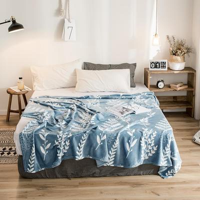 2019新款-法莱绒毛毯 120*200cm 花语