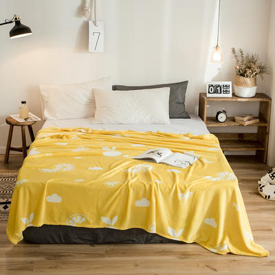 2019新款-法莱绒毛毯 120*200cm 盛夏橙黄