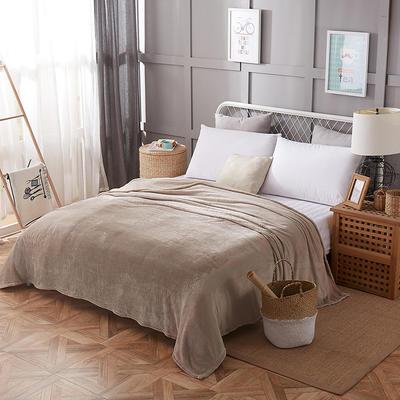 2019新款-法莱绒毛毯 120*200cm 银灰