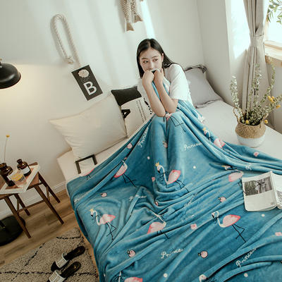 2019新款-云貂绒毛毯 120*200cm 爱情鸟