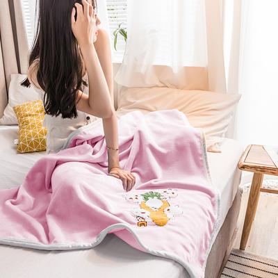 2019新款-云貂绒休闲童毯 100*150cm 小兔子—粉