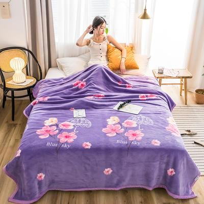 2019新款-云貂绒毛毯 120*200cm 2019姹紫嫣红