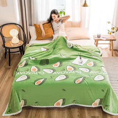 2019新款-云貂绒毛毯 120*200cm 2019牛油果-绿