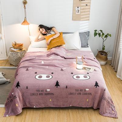 2019新款-法莱绒毛毯 120*200cm 2019晚安—豆沙