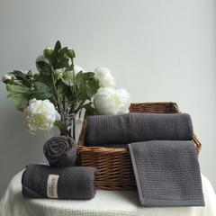毛浴巾-巴厘岛素纱系列 灰色方巾34*35CM
