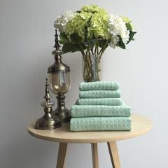 毛浴巾-蜂窝系列 绿色毛巾34*74