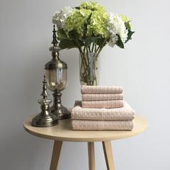 毛浴巾-蜂窝系列 咖色浴巾70*140