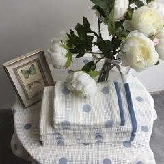 毛浴巾-花好月圆系列 蓝色方巾34*35