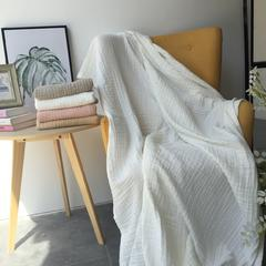 毛浴巾-六层纱布系列 白色童巾25*50