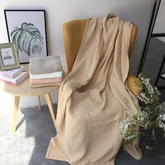 毛浴巾-六层纱布系列 米黄童巾25*50
