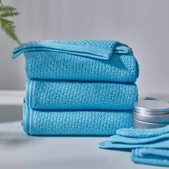 全棉毛浴巾-千丝万缕 千丝万缕天真蓝毛巾34*74