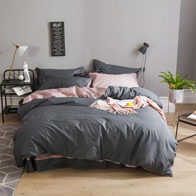 全棉13372四件套 1.2m(4英尺)床(三件套) 格兰甜心(灰)
