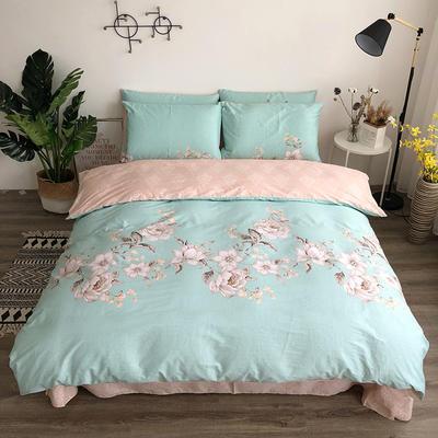 全棉13372四件套 1.2m(4英尺)床(三件套) 花颜颂