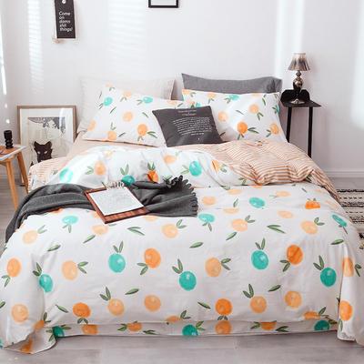 全棉13372四件套 2.0m(6.6英尺)床(四件套) 橙日幽香