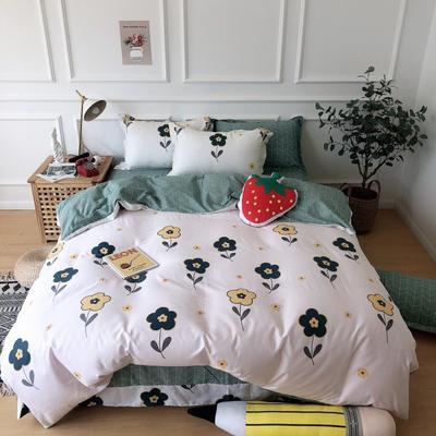 2019新款-全棉13070四件套 1.2m床(床单款三件套) 朵朵花开