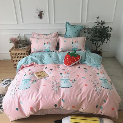 2019新款-全棉13070四件套 1.2m床(床单款三件套) 三月兔