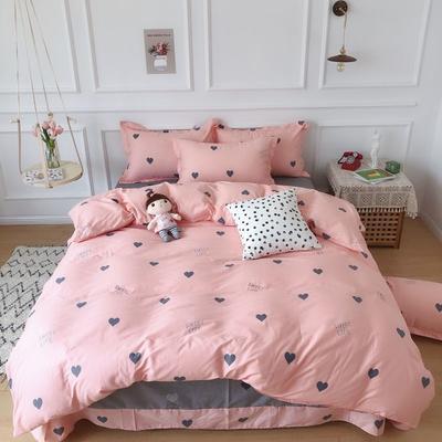 2019新款 全棉13070四件套 1.5m床四件套 粉色回忆