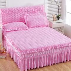 2018心形夹棉床头罩 1.8米 粉色