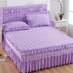 2018心形夹棉床头罩 1.8米 紫色