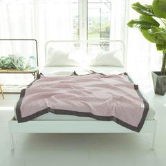 2018新款-全棉色织提花三层纱面料 宽幅250cm 粉
