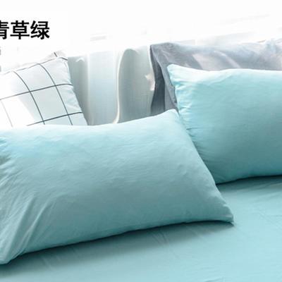 2019新款单件枕套 48cmX74cm 青草绿