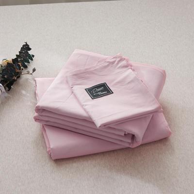 【2019新款-纯棉素色系列套件】全棉纯色四件套学生单人三件套 1.2m床单款三件套 豆沙