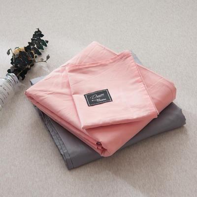 【2019新款-纯棉素色系列套件】全棉纯色四件套学生单人三件套 1.2m床单款三件套 肉粉+银灰