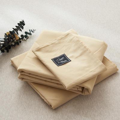 【2019新款-纯棉素色系列套件】全棉纯色四件套学生单人三件套 1.2m床单款三件套 驼色